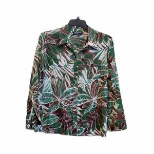 Jones New York Long Sleeve Blouse Size XL EUC